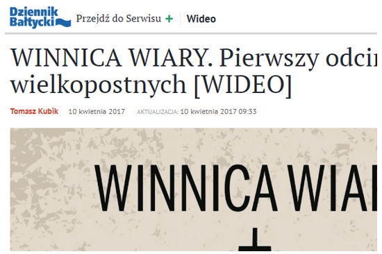 Rekolekcje prowadzone dla Dziennika Bałtyckiego